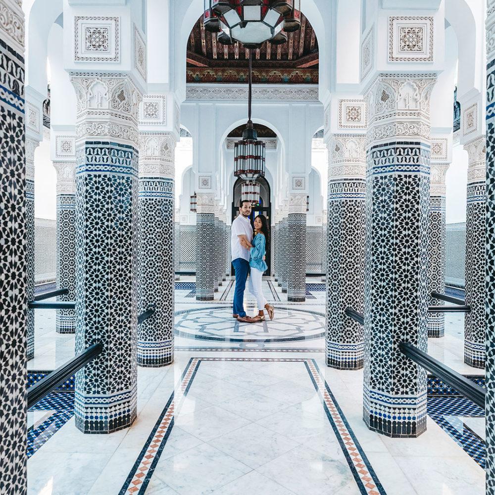 Elopement in Marrakech, Engagement Marrakech in the Medina tour old city © Ettore Franceschi