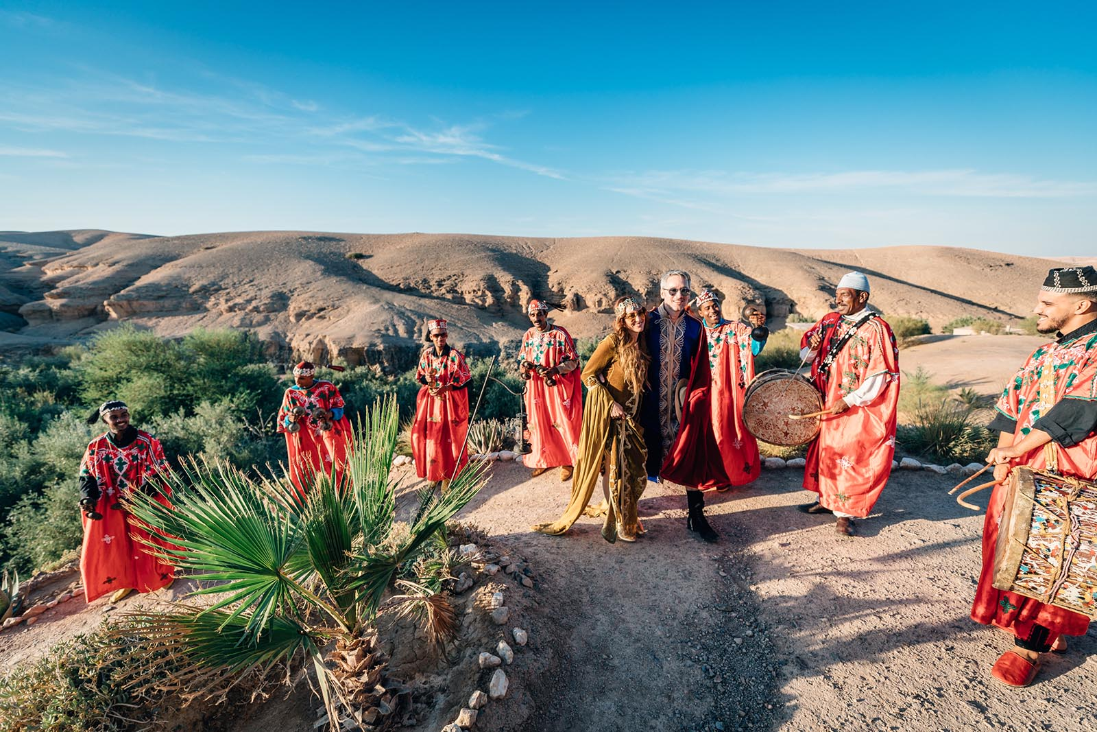 luxury wedding in marrakech la pause desert of agafay la mamounia and la maison arabe