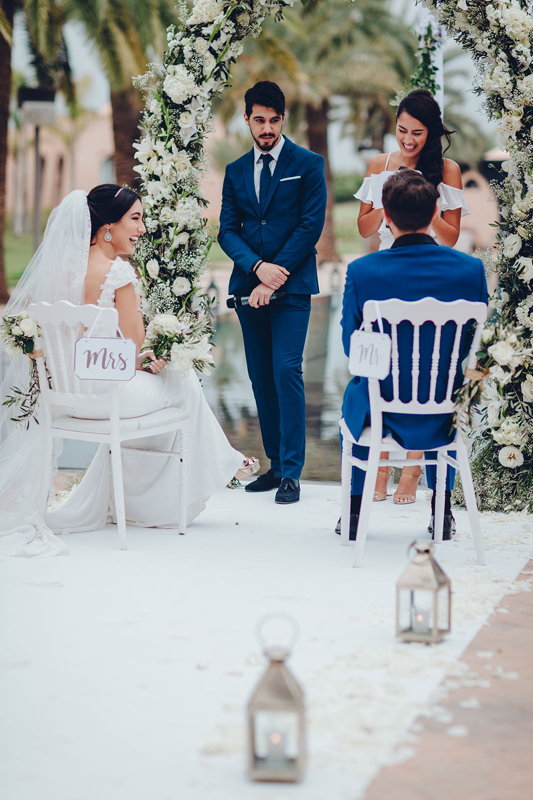 Wedding photographer in Marrakech, Private Villa Morocco, destination wedding with Houda and Sebastien © Ettore Franceschi